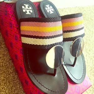NEW Tory Burch Patos Dick Sandals Size 6